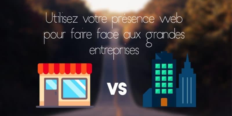 Faire face aux grandes entreprises grâce au web